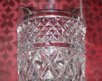 Vintage German Lausitzer Crystal Glasses Set of 6 (24%) Lead Crystal