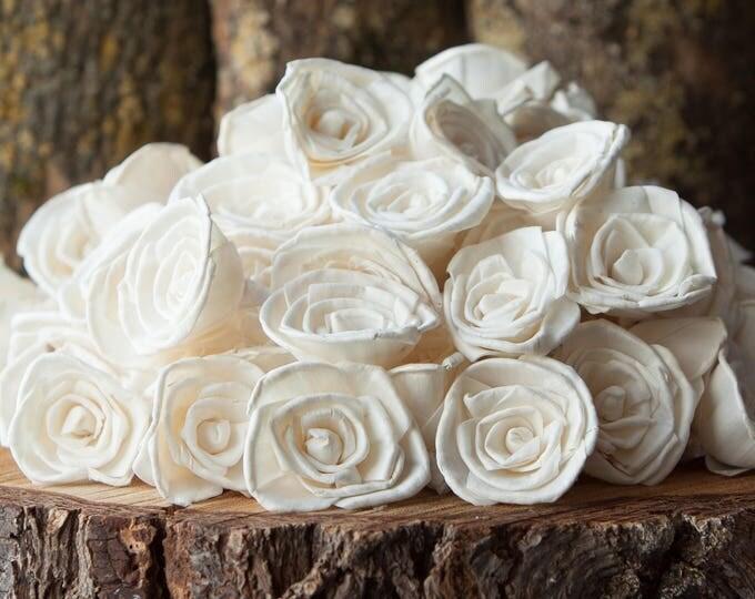 Bulk Classic Rose Sola Flowers - SET OF 100 , Value Pack of Rose Sola Flowers