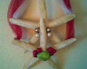 CLEARANCE After Christmas Sale-Christmas double starfish hanging decor