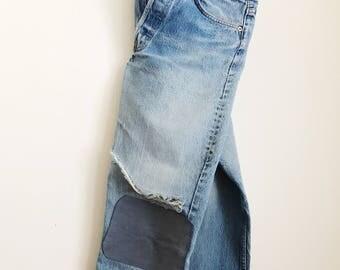 """Vintage Levis 501 patchwork jeans 29"""""""