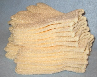 Exfoliating Bath Mitts [THREE PACK] -Shower Gloves- Massage Gloves-Bath Accessory-Assorted Gloves- Favors.