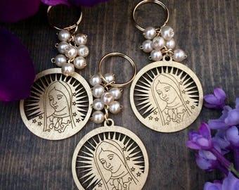 20 pcs keychain cross wood charm, Wedding favors, Baptism Favors, Communion favors, Recuerditos