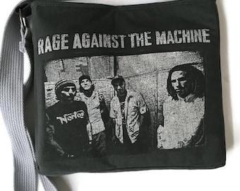 Rage Against the Machine Bag • Upcycled Tshirt Purse • Band Tee Bag • Crossbody Bag • 90s Gift • Rage Against the Machine Tshirt Bag