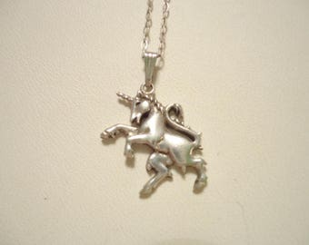 Petite Unicorn Sterling Necklace