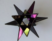 RESERVED FOR CHRIS      Black Iridescent Hanging Moravian Star Suncatcher