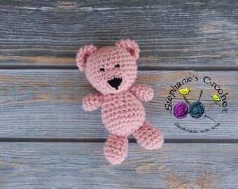 Crochet Teddy Bear, PHOTO PROP, Mini Bear, Bear, Plush Toy, Stuffed Toy, Soft Toy, Amigurumi Toy-Made to Order