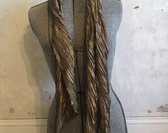 Vintage disco gold scarf