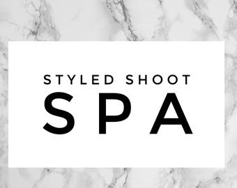 Styled Shoot Ticket, Flourish Members only, Rights to high resolution images, Spa Themed Set