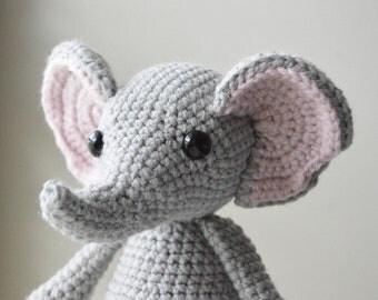 Eleanore the Baby Elephant Finished Plush Amigurumi Doll