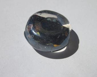 1 large round and flat glass bead murano 24 mm (5 PV38) effect