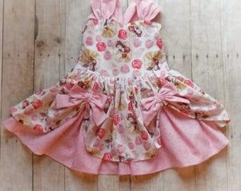 Belle dress , birthday dress , princess dress, pink dress