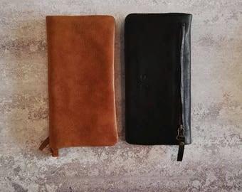 Women Leather Wallet, Credit Card Wallet, Women's Medium Wallet, Bifold Leather Wallet
