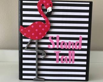 Stand Tall Flamingo Wooden Block