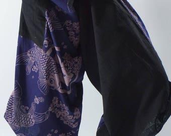 SR0257 Samurai pants with Unique Hilltribe fabric Wrap Around
