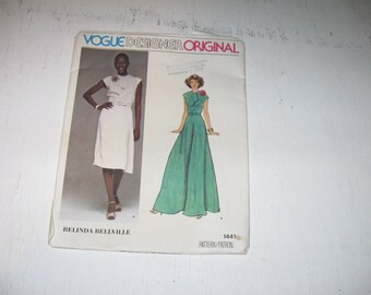 Vogue Pattern 1441 Vogue Designer Orginal Belinda Bellville Great For Wedding, Party, Tea, Or Formal Wear