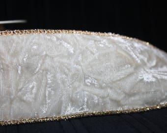 vintage drahtkante velvet Ribbon