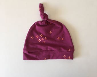 Twinkle Berry Knotted Hat