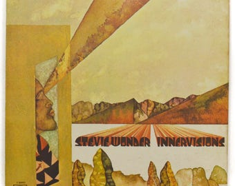 Vintage 70s Stevie Wonder Innervisions Gatefold Soul Funk Album Record Vinyl LP