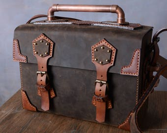 Steampunk Leather Bag Box Camera Travel SOLD OUT