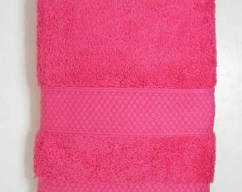 50x90cm towel cotton Terry color fuchsia pink