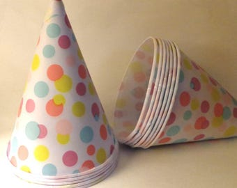 Snow Cone Paper Cups polka dots Party Snack cup Buffet supplies dessert snack Cup Birthday Party bulk