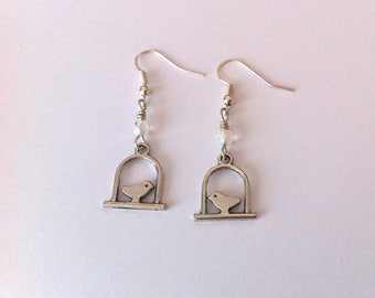 Modern bird earrings