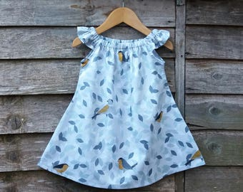 6-12 months - Handmade Birdsong Play Dress