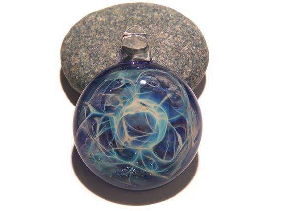 Glass Pendant - Purple Lightning Pendant - Glass Art - Unique Bead - Blown Glass Jewelry - Glass Necklace - Boro Pendant - Universe Filament