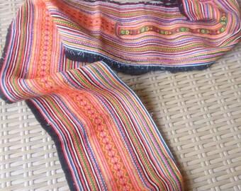 Ethnic Cross Stitch Handmade Vintage Hmong Hill tribe quality Trim Craft supplies