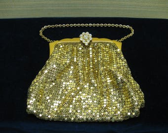 Gold Mesh Evening Bag by Whiting & Davis with an Original Box