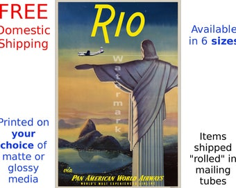 Pan Am - Rio #3 - Vintage Airline Travel Poster (491961250)