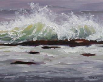 Ocean Wave on a Rocky Coast