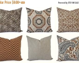 15% OFF SALE Decorative Pillow Cover - Caramel Tan Pillow - Chevron Pillow - Solid Pillow Cover - Accent Pillow Cover - Brown Pillow - Tan G