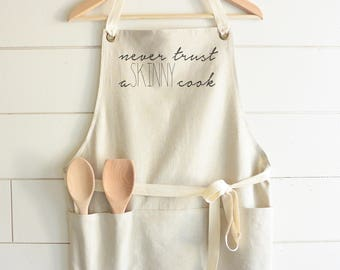 Skinny Cook Apron // Kitchen // Baking // Cooking // Gift // Housewarming // Present // Birthday // Anniversary // Wedding