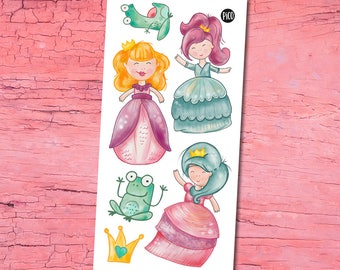 Temporary Tattoos - Princesses