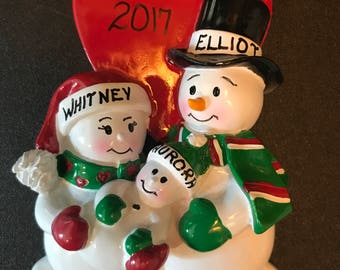 New Parents Personalized Christmas Ornament