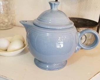 Vintage Fiesta Ware Blue Teapot - Fiesta