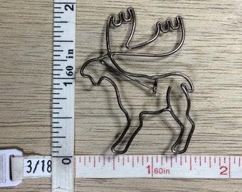 Vintage Silver Toned Pin Brooch Moose Used