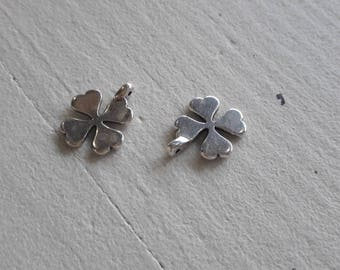 * clearance * 5 clover, silver medal pendant
