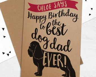 Birthday Card To The Best Dog Dad / Mum Ever - Happy Birthday Card from the dog