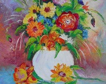 Flowers 2,Original Oil Painting 50/40 sm