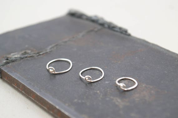 3 Pack Silver Nose Hoops- Choose Between Thin 24 Gauge or Thick 20 Gauge- Find your best fit