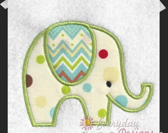ON SALE Elephant Applique' Machine Embroidery Applique' Design