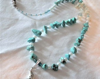 Blue Moon Necklace and Earrings