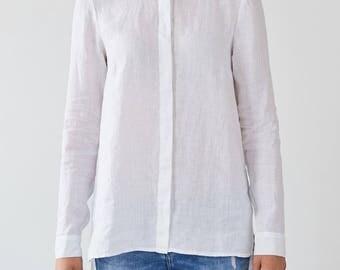 White Angelica Linen Shirt