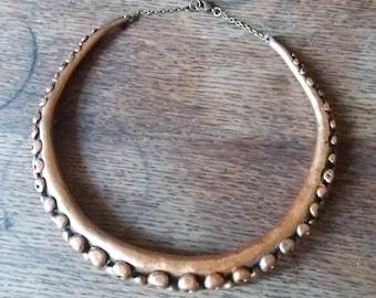 Metallic Bronze tentacle necklace