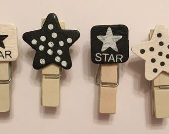 Star pegs