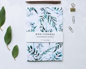 Winter Sprig A5 Notebook with lined pages