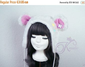 SALE Snow teddy hat