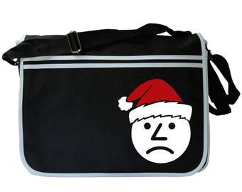 Ashens Santa Sad Onion Black Messenger Shoulder Bag
